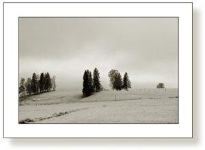 Winterlandschaft, Hopfen am See 1 F4 Sepia
