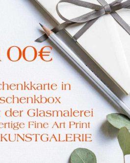 100 Euro Rot Geschenkkarte in Geschenkbox